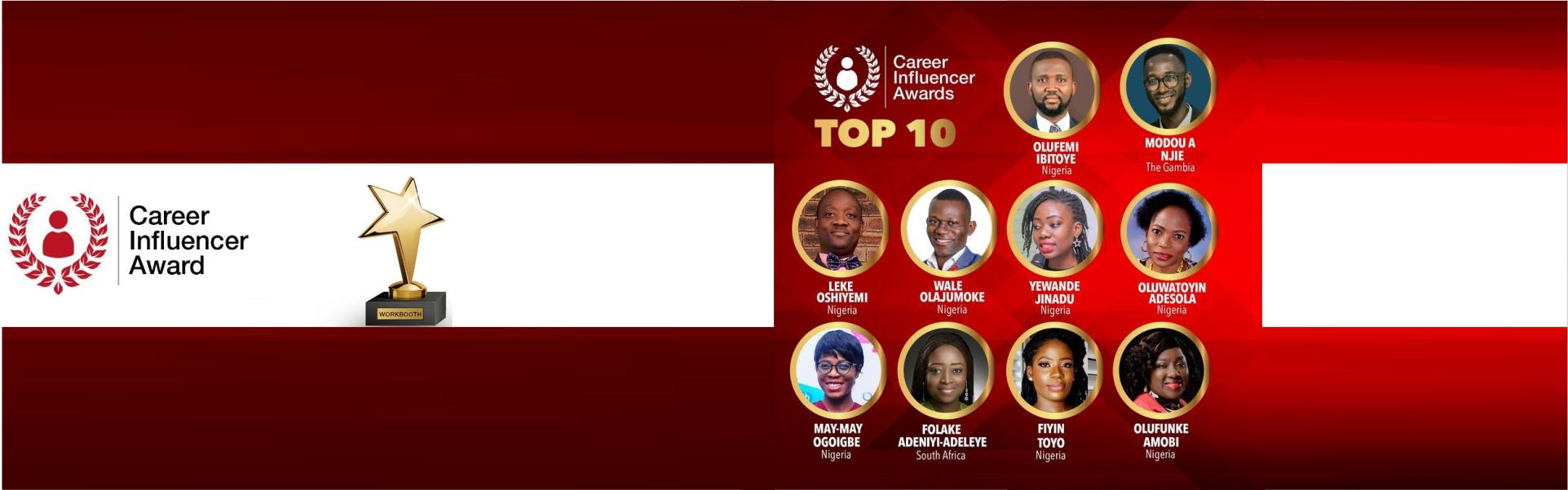 Workbooth Career Influencer Awards
